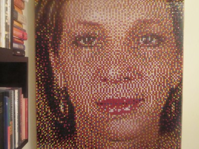 Push Pin Portrait Completed