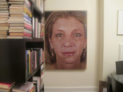 Push pin portrait by Eric Daigh