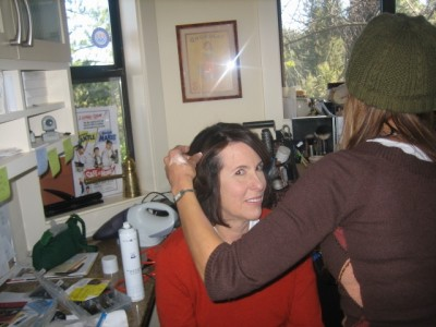 The amazing Madeline Levine getting ready for her close up.