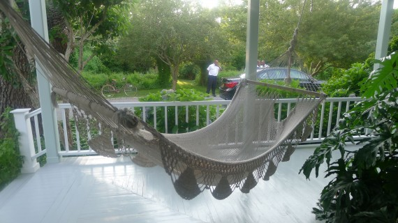 I love the hammock on the front porch.