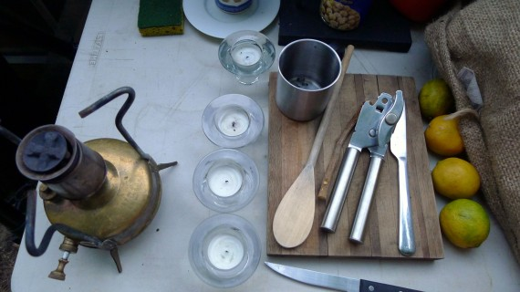 Utensils. Just because you are in the woods alone does not mean you have to live like a slob.