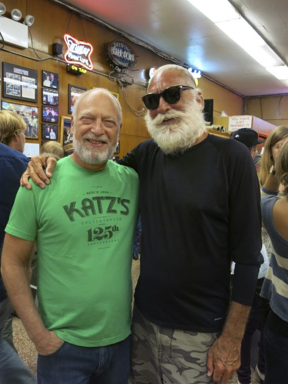 Katz's owner Alan Dell with Barry Buch.