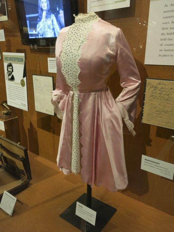 Dolly Parton's dress. I swear as I was trying to focus the little square kept going to her boobs.