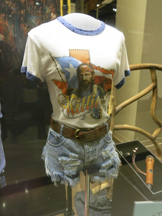 They had a special exhibition of Carrie Underwood's clothes from her last tour.