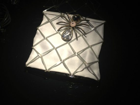 A bag with a spider.