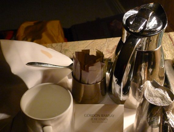 Coffee in the room. Lobby coffee was not set up until 6:30.