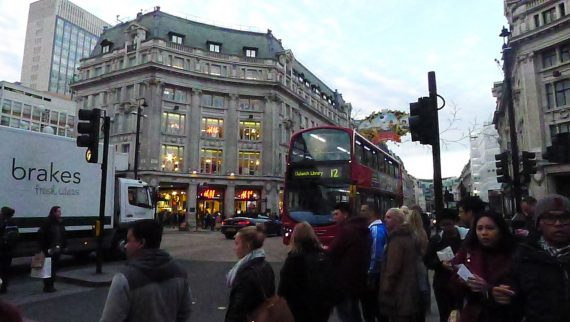 One of my favorite intersections, Oxford Circus and Regent Street.
