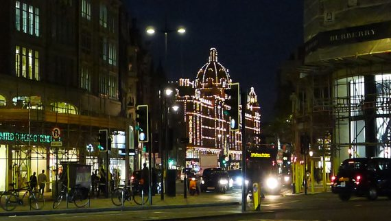 And Harrods was all twinkly.