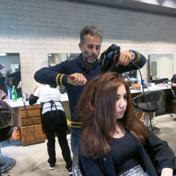 Lucy needed hair to go with her lashes. Well, she didn't. But she needed a haircut. so a stop to Peter Ishkans at Meche.