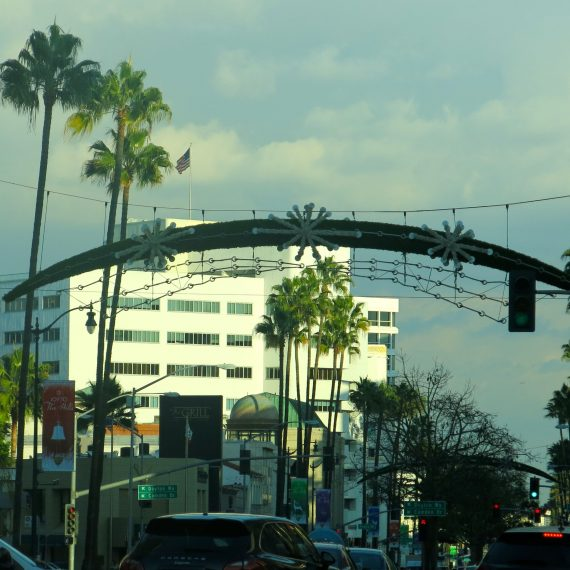 Not a favorite - the way XMAS looks in the LA light. Palm tress and decorations.
