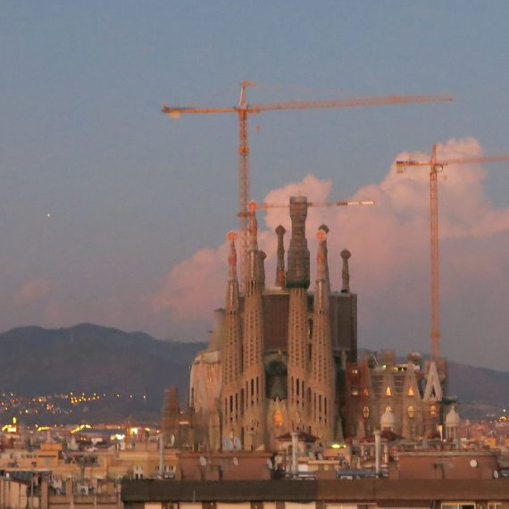 The Sagrada Familia from our roof.