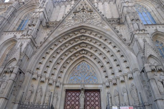 The oldest Gothic Cathedral in Spain. They started building it in the 13th Century.