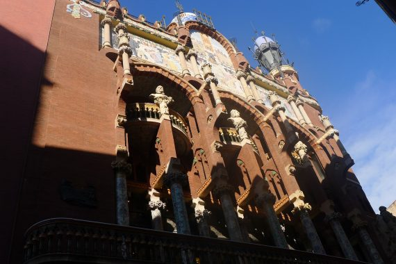 Palau De La Musica Catalana. Concert Hall built in 1908.  We could not go in as a concert was going on. We went in one little part of lobby.