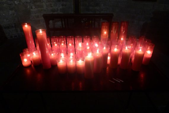 Close up of candles.