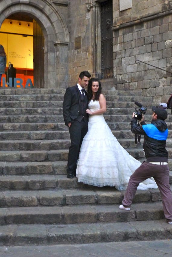 We saw this wedding couple on the steps of the Historical Museum, I think.