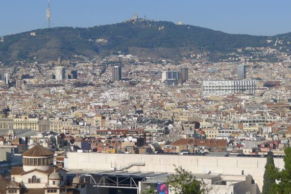 City view from outside Miro Museo.