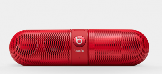 I know last year I was pushing the Jambox, but in the last 12 months I discovered The Beats Pill. In all sorts of colors. Great sound for a tiny little bluetooth  thing.