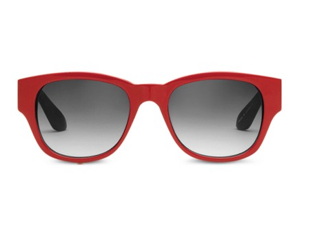 Red Sunglasses from Toms. Yes the same guy who makes the shoes.