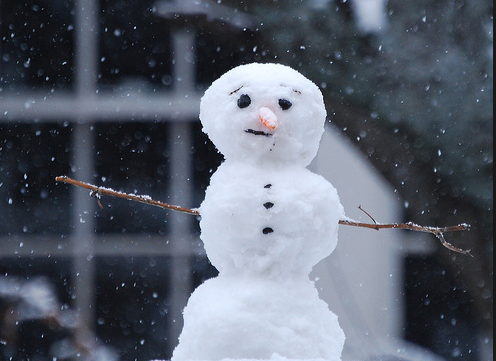If you get the chance - build someone a snowman.
