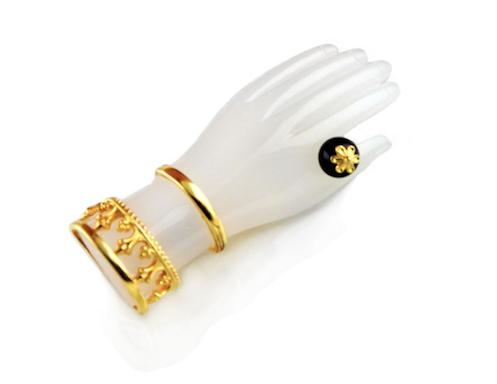 White Hamsa Pendant.
