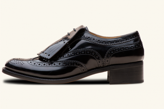 I don not love men's shoes on women. But for some reason I like these made by Church. I think with the right thing they could be sexy. And they are very in.