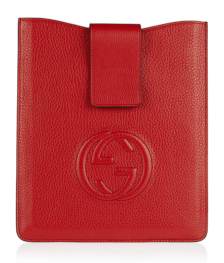 If you want your iPad to name drop how about a red Gucci iPad case?
