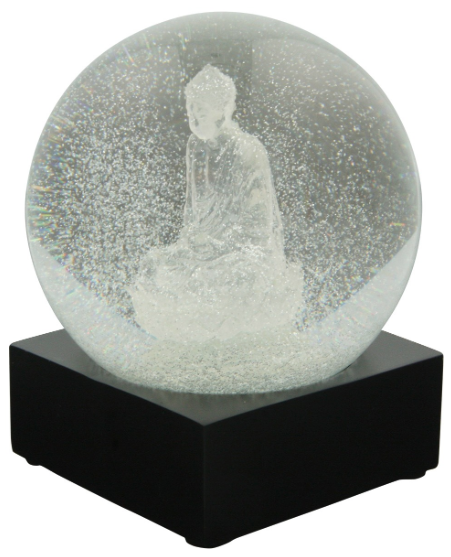 I love this snow globe with Buddha. I think I would put it on my desk and get very zen looking at it.