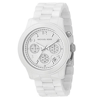 White Time Is It?  Dior started the whole white sport watch craze. But Michael Kors does a far cheaper version which is just as chic. I think....