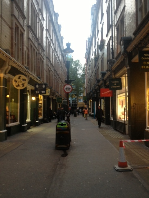 Cecil Court in London where the Downton jewels can be found.