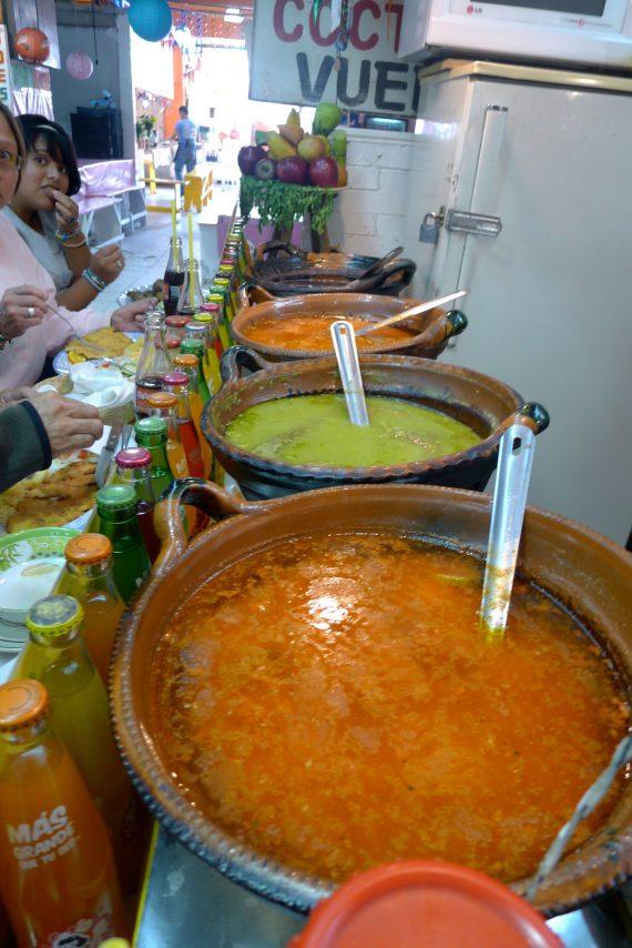 Salsas and sauces.