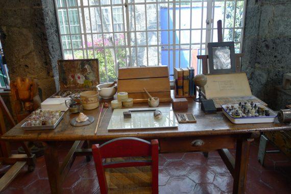 Frida's desk.