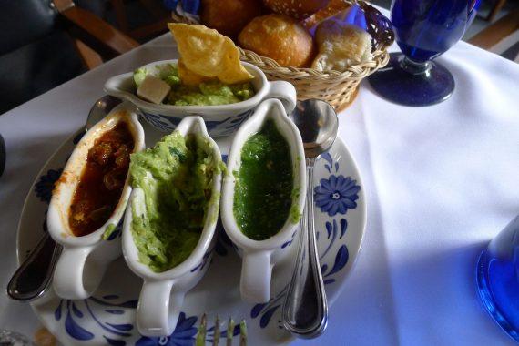 Salsa and Guacamole.