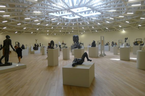 The top floor is full of his sculpture collection. Some good pieces in there.