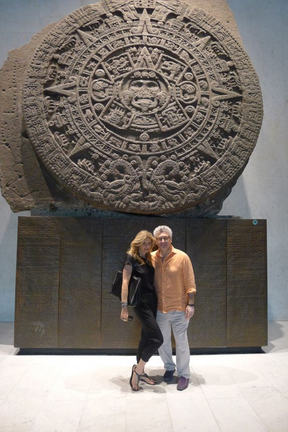 Mexico's most famous archaeological piece, Sun Stone which was discovered in the main square of Mexico City in  1790. Dates back to the Aztecs.