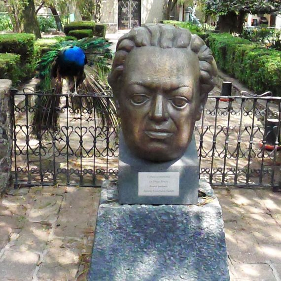 There is one hiding behind the statue of Diego Rivera.