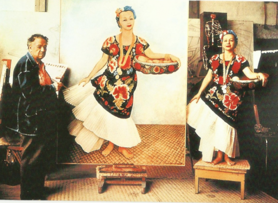Dolores being painted by Diego Rivera. Taken from the web.
