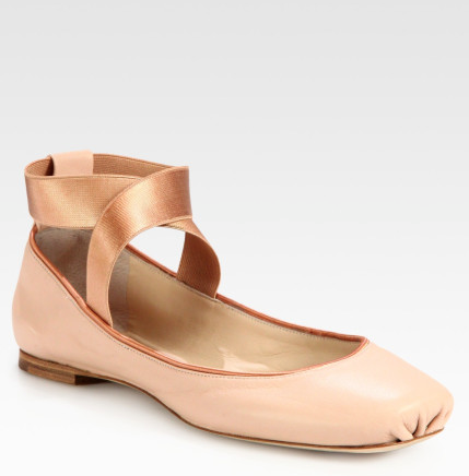 Chole is all over the pink movement. This is their ballet shoe. I think it looks too much like you are about to dive into Swan Lake. But that is just me.