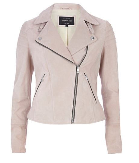 One piece that would add the right pink to your look is the pink moto jacket. In all price ranges. Just type in Pink Jackets Polyvore and find the one that is right for you.