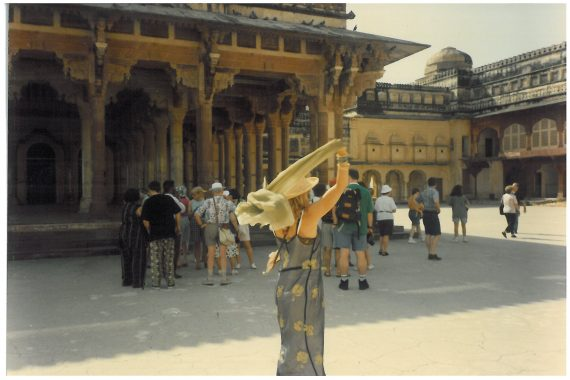 Goldie dancing by herself at Amber Palace.