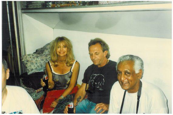 Mark, Goldie and Aditya Patankar.