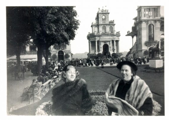My  mother and her mother in Paris.