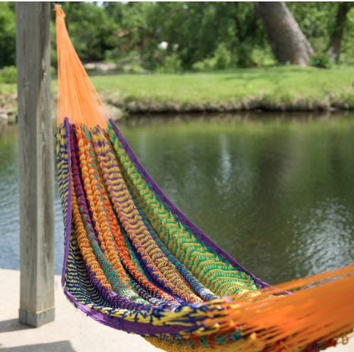 Oh, how I am longing for a hammock.  This one is at Hayneedle.com.  The perfect place to pass those summer days.