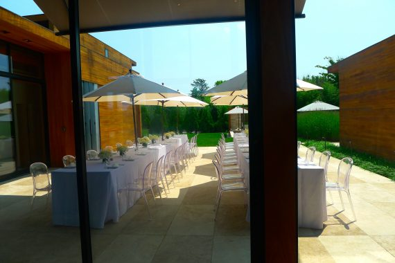 Tables ready for the ladies to lunch.