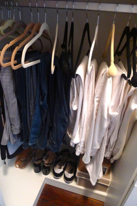 My paired down summer wardrobe.