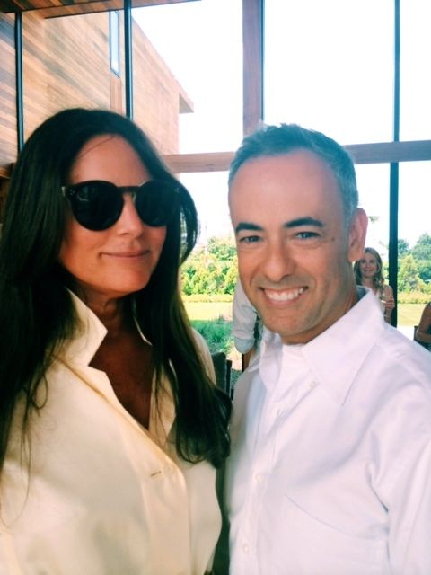 Designers Francisco Costa of Calvin Klein and Lisa Marie Fernandez.