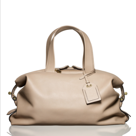 I  love beige bags with grey, black and navy. This one by Reed Krakoff will go with all of them.