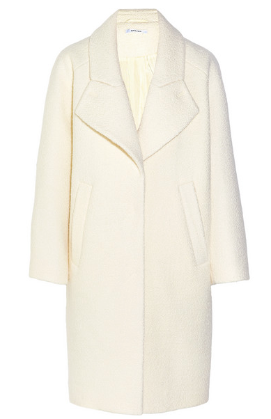 The great thing about keeping it to basics is you can buy one or two things that just make it all come together. I felt that way about this white Carven Coat. Net A Porter.