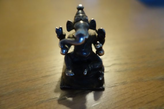 Ganesh - Hindu God Of Protection and Remover of Obstacles. This one lives in my travel medicine kit. I always have him with me.
