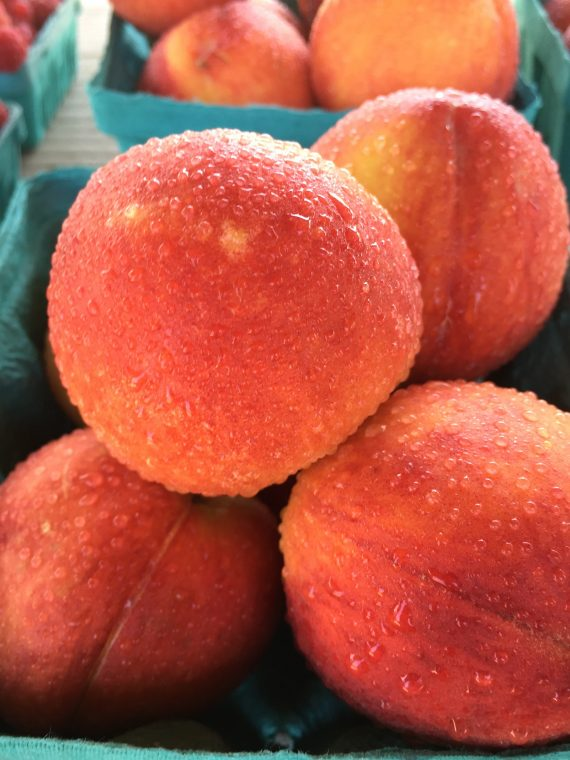 Fresh peaches.