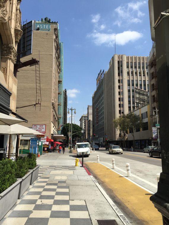 Straight ahead. It does not look like most cities. It is LA.